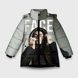 Куртка зимняя для девочки FACE: Slime цвета 3D-черный — фото 1