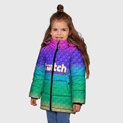 Куртка зимняя для девочки Rainbow Twitch цвета 3D-черный — фото 2
