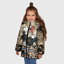 Куртка зимняя для девочки Черный Клевер АСТА цвета 3D-черный — фото 2