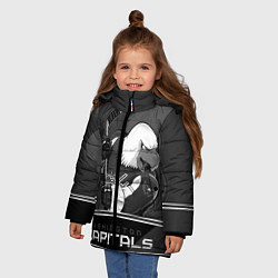 Куртка зимняя для девочки Washington Capitals: Mono цвета 3D-черный — фото 2