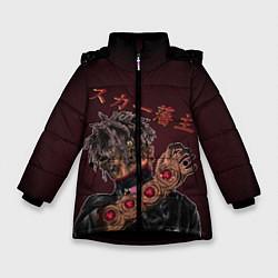Куртка зимняя для девочки SCARLXRD: Dark Man цвета 3D-черный — фото 1
