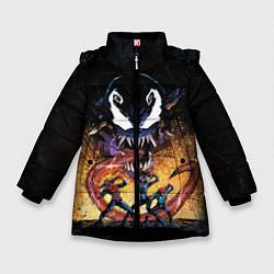 Куртка зимняя для девочки Venom city цвета 3D-черный — фото 1