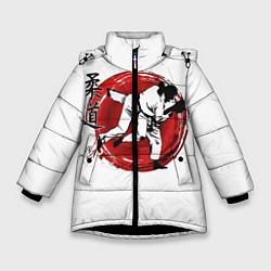 Куртка зимняя для девочки Judo: Japan цвета 3D-черный — фото 1