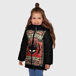 Куртка зимняя для девочки The Offspring: Days Go By цвета 3D-черный — фото 2