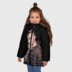 Куртка зимняя для девочки Егор Крид: Время не пришло цвета 3D-черный — фото 2