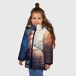 Куртка зимняя для девочки Егор Крид: Слеза цвета 3D-черный — фото 2