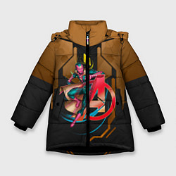 Куртка зимняя для девочки Вижен цвета 3D-черный — фото 1