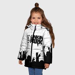 Куртка зимняя для девочки LINKIN PARK цвета 3D-черный — фото 2