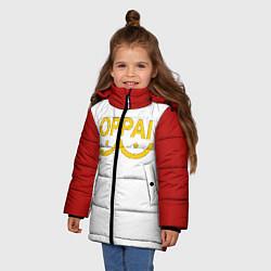 Куртка зимняя для девочки ONE PUNCH MAN цвета 3D-черный — фото 2