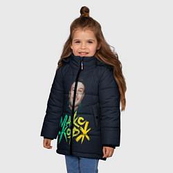 Куртка зимняя для девочки Макс Корж цвета 3D-черный — фото 2
