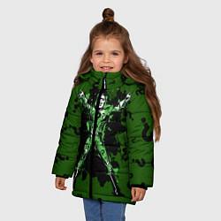 Куртка зимняя для девочки The Riddler цвета 3D-черный — фото 2