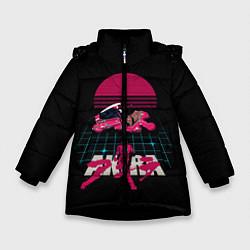 Куртка зимняя для девочки Akirа цвета 3D-черный — фото 1
