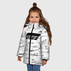 Куртка зимняя для девочки ATEEZ АВТОГРАФЫ цвета 3D-черный — фото 2