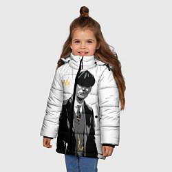 Куртка зимняя для девочки Томас Шелби цвета 3D-черный — фото 2
