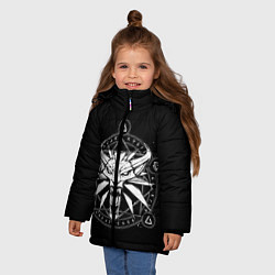 Куртка зимняя для девочки The Witcher цвета 3D-черный — фото 2
