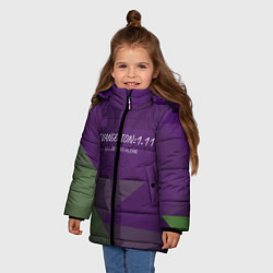 Детская зимняя куртка для девочки с принтом Evangelion: 111, цвет: 3D-черный, артикул: 10201116106065 — фото 2