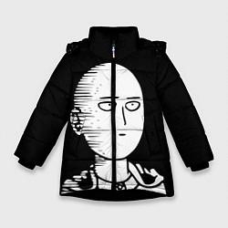 Куртка зимняя для девочки ONE-PUNCH MAN цвета 3D-черный — фото 1