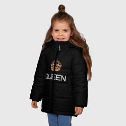 Куртка зимняя для девочки Королева цвета 3D-черный — фото 2