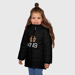 Куртка зимняя для девочки Король цвета 3D-черный — фото 2
