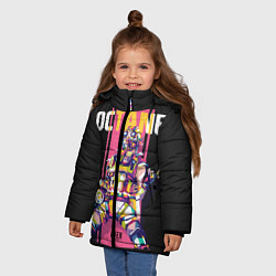 Куртка зимняя для девочки Apex Legends Octane цвета 3D-черный — фото 2