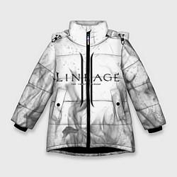 Детская зимняя куртка для девочки с принтом LINEAGE 2, цвет: 3D-черный, артикул: 10202648906065 — фото 1