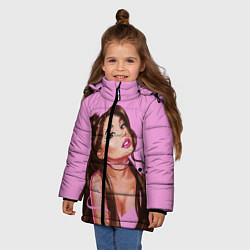 Куртка зимняя для девочки Ariana Grande Ариана Гранде цвета 3D-черный — фото 2