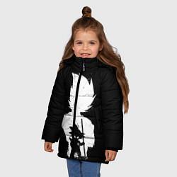Куртка зимняя для девочки Mini Dragon Ball цвета 3D-черный — фото 2