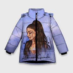 Куртка зимняя для девочки Ариана Гранде цвета 3D-черный — фото 1