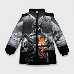 Куртка зимняя для девочки Battlefield цвета 3D-черный — фото 1