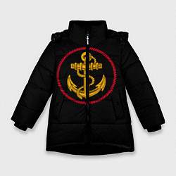Куртка зимняя для девочки ВМФ цвета 3D-черный — фото 1