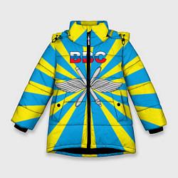Куртка зимняя для девочки Флаг ВВС цвета 3D-черный — фото 1