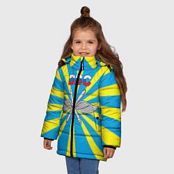 Куртка зимняя для девочки Флаг ВВС цвета 3D-черный — фото 2