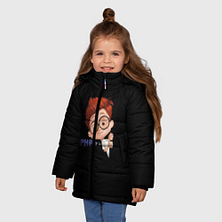 Куртка зимняя для девочки ПРОГРАММИСТЫ цвета 3D-черный — фото 2