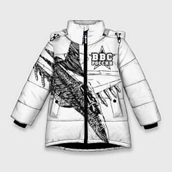 Куртка зимняя для девочки ВВС России цвета 3D-черный — фото 1