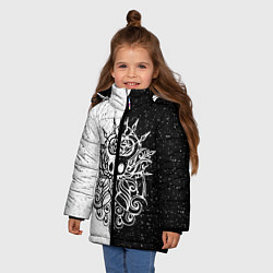 Куртка зимняя для девочки Hollow Knight цвета 3D-черный — фото 2