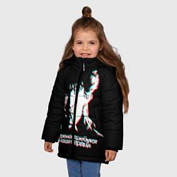 Куртка зимняя для девочки Виктор Цой цвета 3D-черный — фото 2