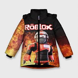 Куртка зимняя для девочки ROBLOX цвета 3D-черный — фото 1