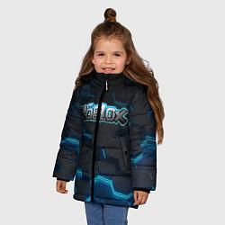 Куртка зимняя для девочки Roblox Neon Hex цвета 3D-черный — фото 2