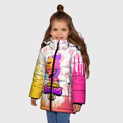 Детская зимняя куртка для девочки с принтом BRAWL STARS SANDY, цвет: 3D-черный, артикул: 10207900306065 — фото 2