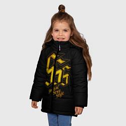 Куртка зимняя для девочки SSS Rank цвета 3D-черный — фото 2