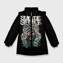 Куртка зимняя для девочки Suicide silence цвета 3D-черный — фото 1