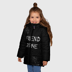 Куртка зимняя для девочки FRIEND ZONE цвета 3D-черный — фото 2
