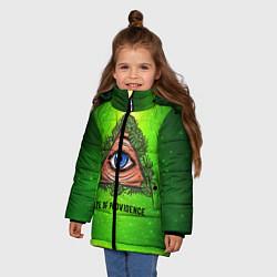 Куртка зимняя для девочки Всевидящее око цвета 3D-черный — фото 2