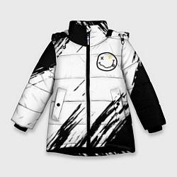 Куртка зимняя для девочки NIRVANA цвета 3D-черный — фото 1