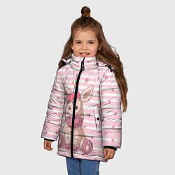 Куртка зимняя для девочки Единорожек цвета 3D-черный — фото 2