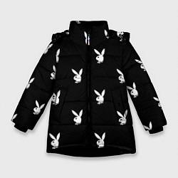 Куртка зимняя для девочки PLAYBOY цвета 3D-черный — фото 1