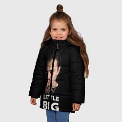 Куртка зимняя для девочки Little Big: Илья Прусикин цвета 3D-черный — фото 2