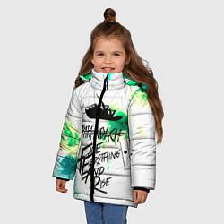 Куртка зимняя для девочки Papa Roach цвета 3D-черный — фото 2
