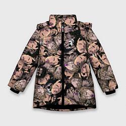 Детская зимняя куртка для девочки с принтом Juice WRLD, цвет: 3D-черный, артикул: 10212957306065 — фото 1