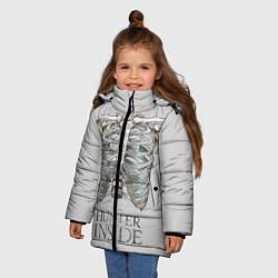 Куртка зимняя для девочки Supernatural Hunter Inside цвета 3D-черный — фото 2